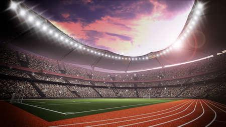 An imaginary stadium