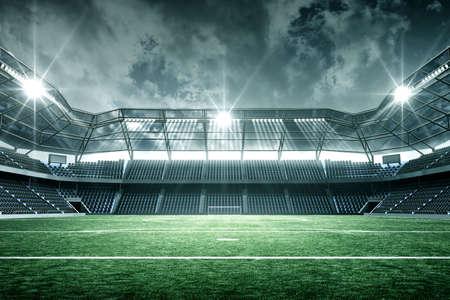 Foto de Stadium, an imaginary stadium is modeled and rendered. - Imagen libre de derechos