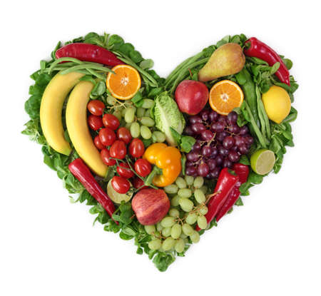 Photo for Heart of fruits and vegetables - Royalty Free Image