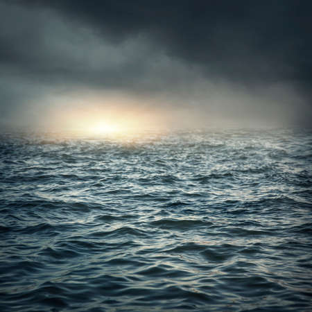 Photo pour The stormy sea, abstract dark background. - image libre de droit