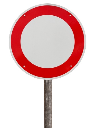 No vehicles traffic sign against white background