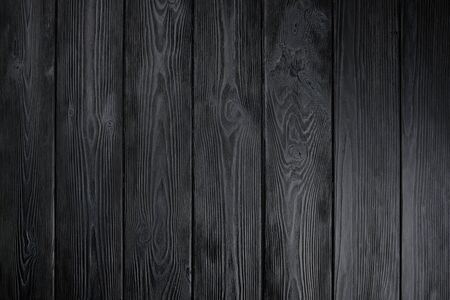 Photo for Black wood texture for design and background. Natural background - Royalty Free Image
