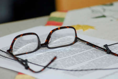 Reading glasses for shortsighted people