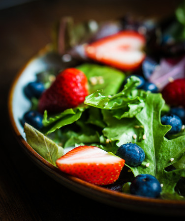 salad with greens and berries