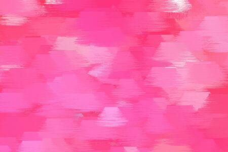 Vintage Brush Drawn Illustration With Hot Pink Pastel