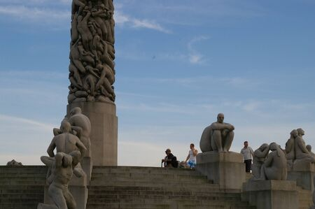 From the Gustav Vigeland sculpture park in Oslo