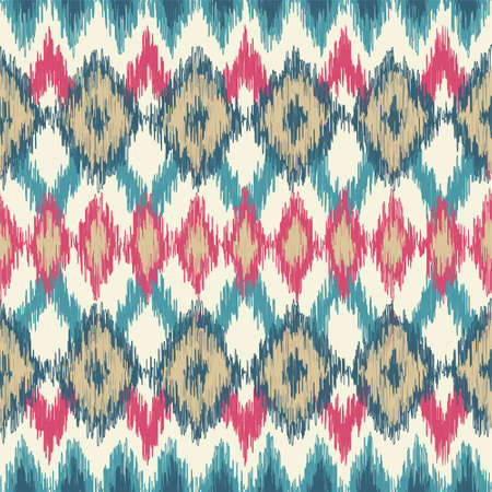 Pink and Blue Ikat Pattern