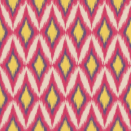 Bright Geometric ikat pattern