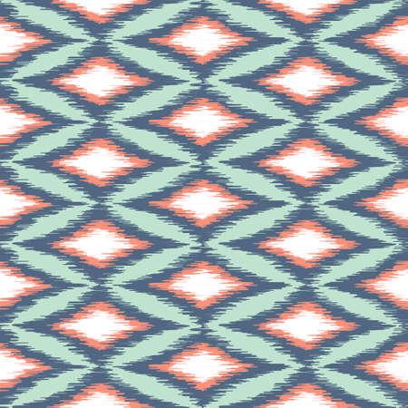 Pink and Blue Diamond Ikat Pattern