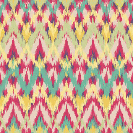 Pink and Green Ikat Pattern