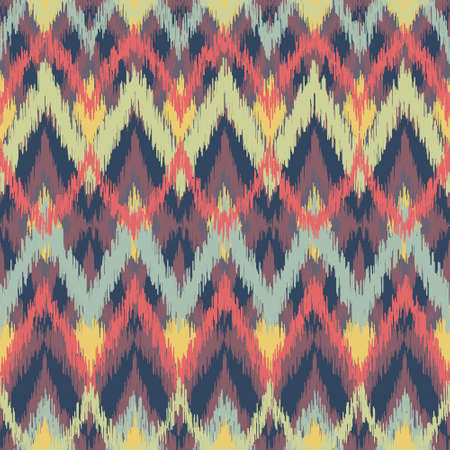 Abstract Zigzag Ikat Pattern
