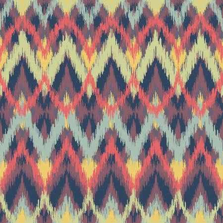 Abstract Zigzag Ikat Pattern Wallpaper