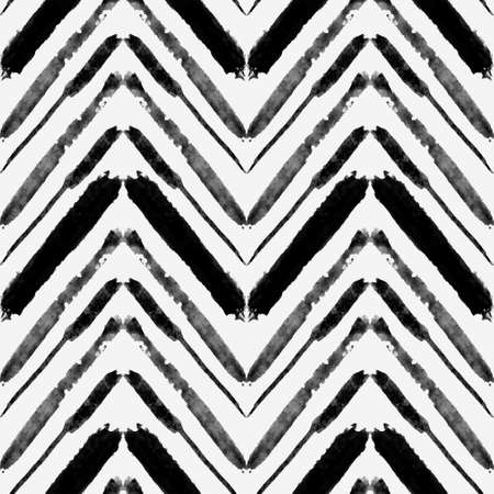 Vector seamless grunge pattern with watercolor ethnic zigzag lines. Can be used for web fash