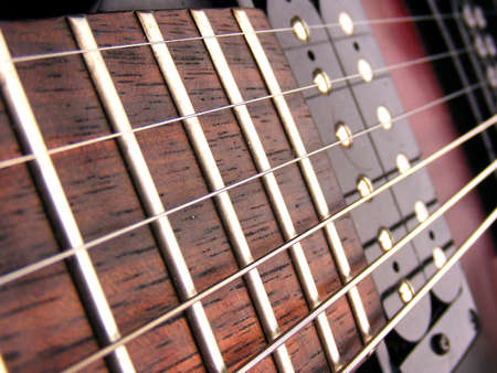Electric Guitar strings frets and pick ups