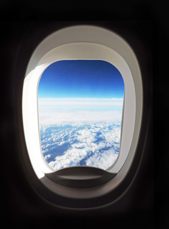 View outside of the airplane porthole