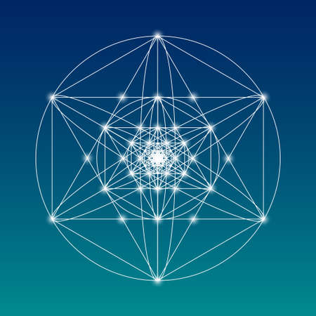 Illustration pour Sacred geometry symbol or element. Alchemy, religion, philosophy, astrology and spirituality themes - image libre de droit