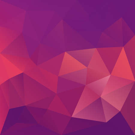 Illustration pour Polygonal mosaic abstract geometry background landscape in violet, magenta and pink colors. Used for creative design templates - image libre de droit