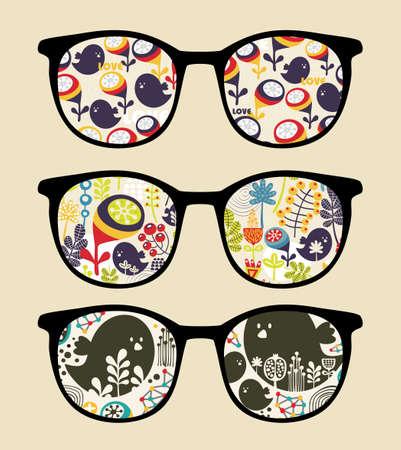 Foto de Retro sunglasses with reflection in it   - Imagen libre de derechos