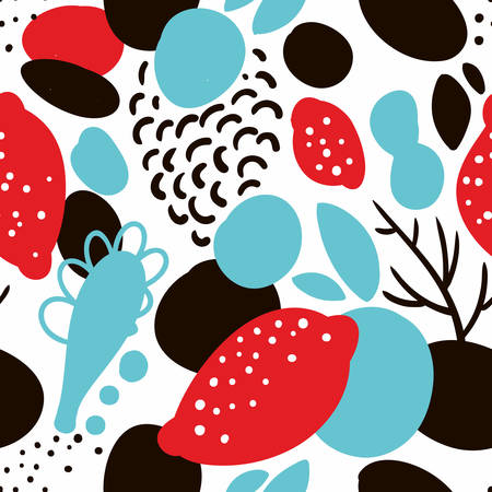 Illustration pour Seamless pattern in abstract style. Vector creative background. - image libre de droit