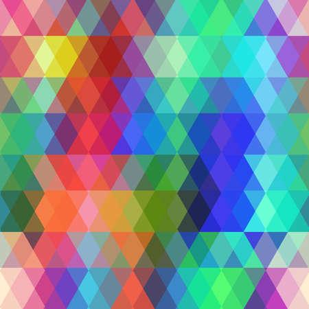 Ilustración de Abstract hipsters seamless pattern with colored rhombus.  - Imagen libre de derechos