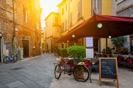 Photo for Old cozy street in Lucca, Italy - Royalty Free Image