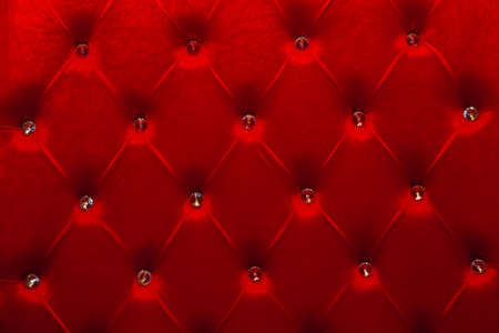 Photo pour red texture of velour carriage screed upholstery fabric for furniture. - image libre de droit