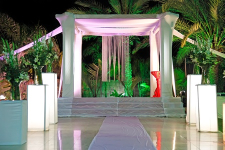 Jewish traditions wedding ceremony  Wedding canopy  chuppah or huppah