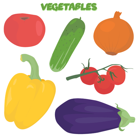 Hand drawn vegetable set isolated on white