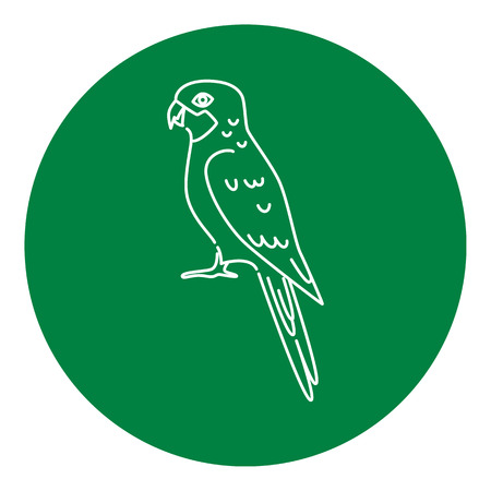 Rosella parrot icon in thin line style  Australian tropical