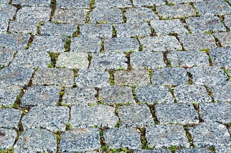 Texture, background. Background. Wild stone bridge lined with cobblestones
