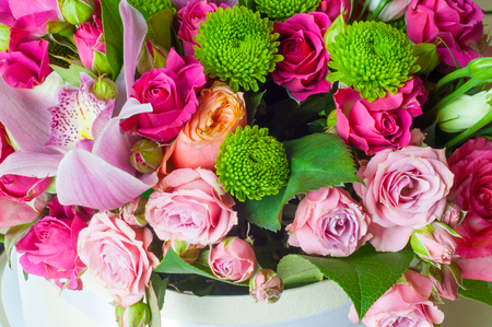 B Beautiful bouquet of flowers ready for the big wedding ceremony.