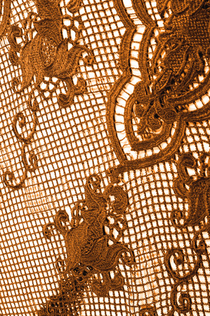 Photo pour texture, pattern. fabric lace is golden, brownish-yellow. Shinning, shimmering and gorgeous! From extremely bright to elegant and classic, it's just an impressive lace - image libre de droit