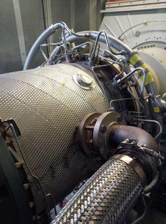 Photo pour Gas turbine engine generator.Used to generate electricity. - image libre de droit