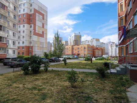 Photo pour Multi-story houses. City in Russia Lipetsk. 18 June 2019 year. - image libre de droit
