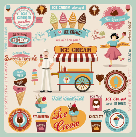 Collection of Ice Cream Design Elements