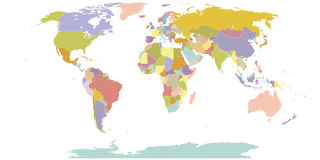 High Detail World map All elements are separated in editable layers clearly labeled