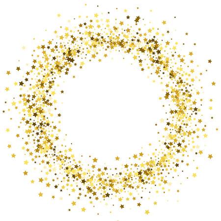 Ilustración de Frame or border of stars. - Imagen libre de derechos
