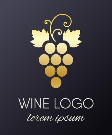 Illustration pour A Grapes logo design element isolated on plain background. - image libre de droit