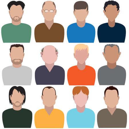 Illustration pour Set of abstract men without faces. - image libre de droit