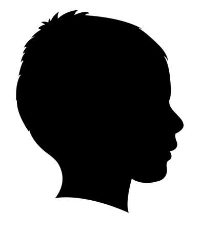 Illustrazione per a child head silhouette vector - Immagini Royalty Free