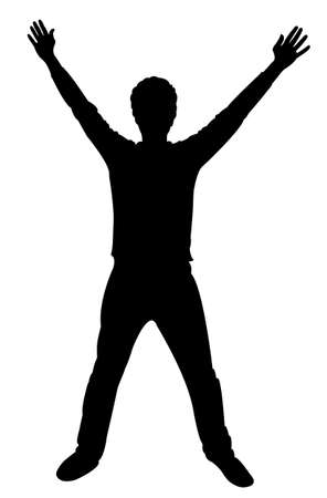 Illustration for Man silhouette standing vector - Royalty Free Image