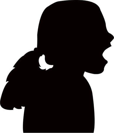 Illustration pour a kid head silhouette vector - image libre de droit
