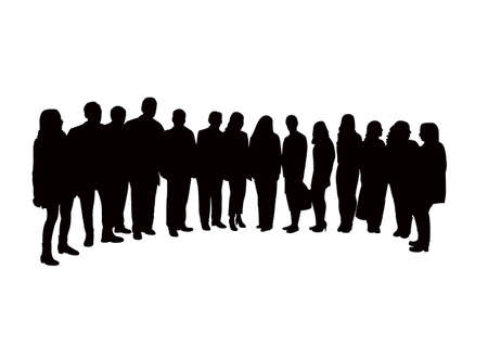 Illustration for people together, silhouette vector - Royalty Free Image