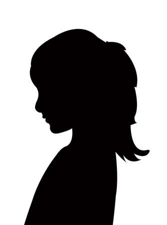Illustration pour a girl head silhouette vector - image libre de droit