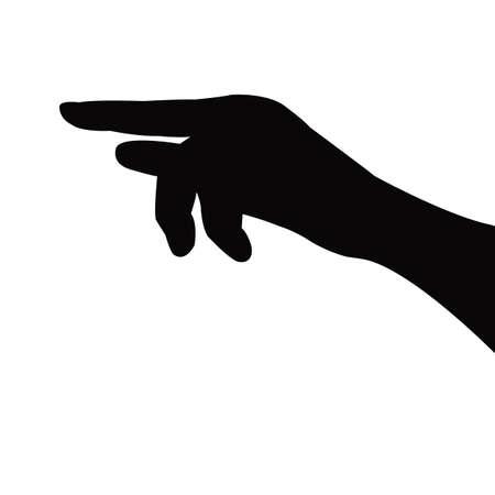 Illustration pour a hand silhouette vector - image libre de droit