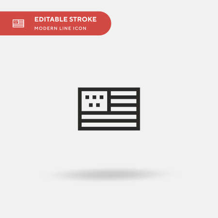 Eeuu Simple vector icon. Illustration symbol design template for web mobile UI element. Perfect color modern pictogram on editable stroke. Eeuu icons for your business project