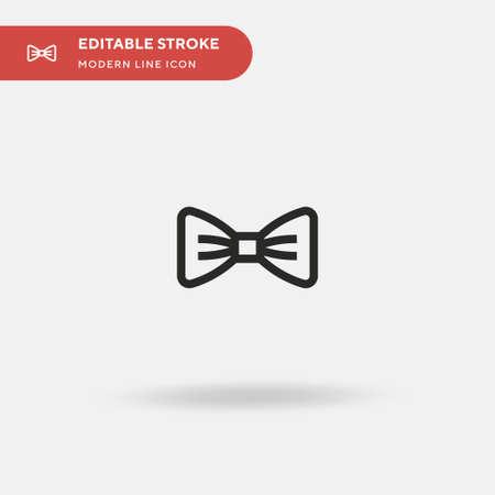 Illustration pour Bow Tie Simple vector icon. Illustration symbol design template for web mobile UI element. Perfect color modern pictogram on editable stroke. Bow Tie icons for your business project - image libre de droit