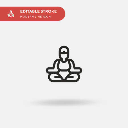 Yoga Simple vector icon. Illustration symbol design template for web mobile UI element. Perfect color modern pictogram on editable stroke. Yoga icons for your business project