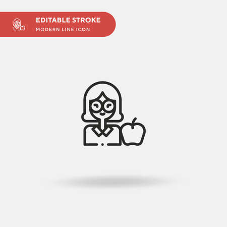 Illustration pour Nutritionist Simple vector icon. Illustration symbol design template for web mobile UI element. Perfect color modern pictogram on editable stroke. Nutritionist icons for your business project - image libre de droit