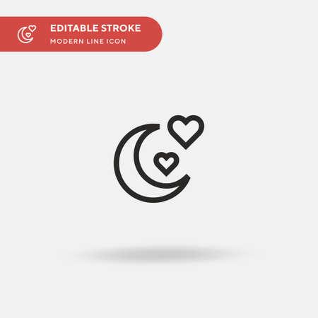 Illustration pour Honeymoon Simple vector icon. Illustration symbol design template for web mobile UI element. Perfect color modern pictogram on editable stroke. Honeymoon icons for your business project - image libre de droit